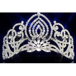 Diademe Miss PLÉIADE 1, cristal, structure ton argent
