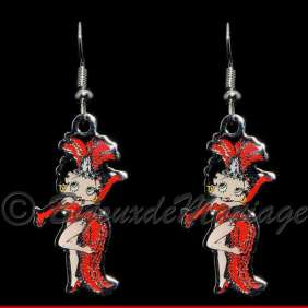 Betty Boop, boucles d'oreilles Spectacle