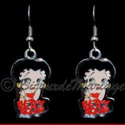 Boucles d'oreilles Betty Boop, structure ton argent