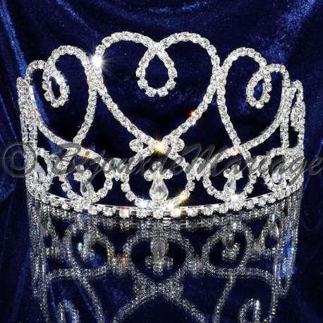 Couronne diadème de Miss Livinia, cristal, ton argent