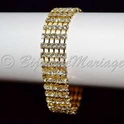Bracelet mariage 5 rangs, ton or
