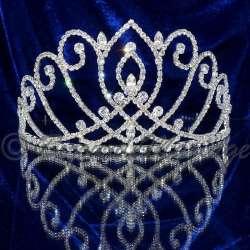 Diademe Miss VENDÔME, cristal, structure ton argent, modèle moyen