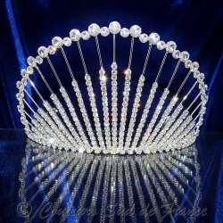 Diademe mariage, couronne de Miss, ARTIFICE 1, ton argent