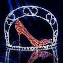 Diademe couronne Miss, Mademoiselle, argenté