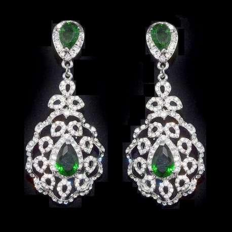 Boucles d'oreilles Coumba, vert