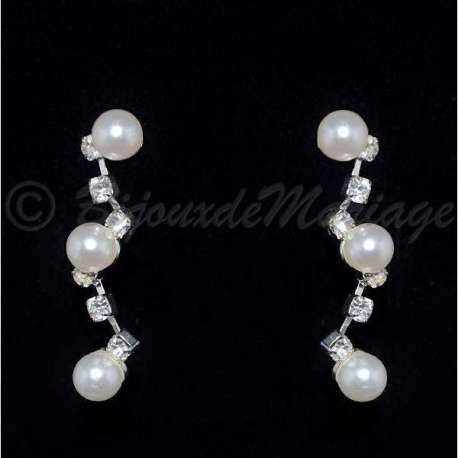 Boucles d'oreilles Zigzag, perles
