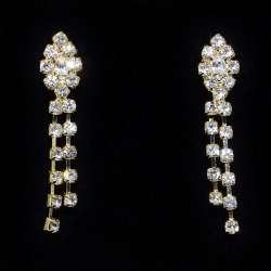 Boucles d'oreilles SISSI, cristal,structure ton or
