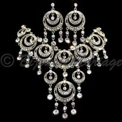 Parure mariage LUNA, cristal, structure rhodiée