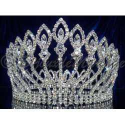 Diademe Miss RADIANCE, cristal, structure ton argent