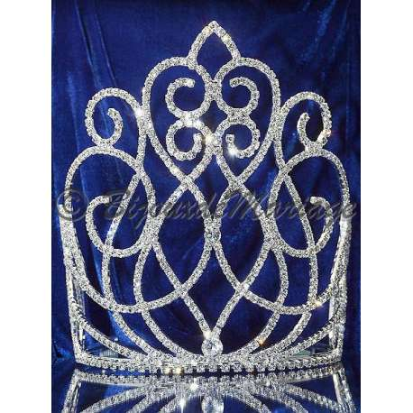 Diademe Miss BISE, cristal, structure ton argent