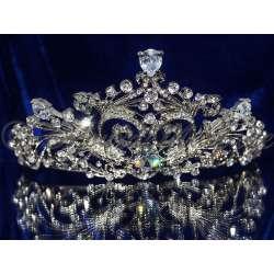 Diademe mariage NOCES, cristal, structure rhodiée
